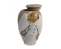Urn Angels Embrace Sand Stone Finish