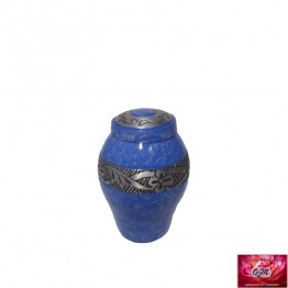 Mini Urn Blauw Marmer Look