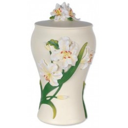 Hand Painted Urn Lily Mini Urn ( 1.0 liter )