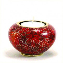 Mini Urn- Midi Urnen Autumn Leaves Memory Cloisonne Light Keepsake